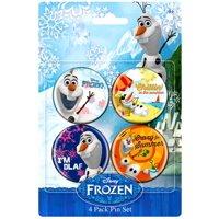 Disney Frozen Olaf Buttons 4-Pack