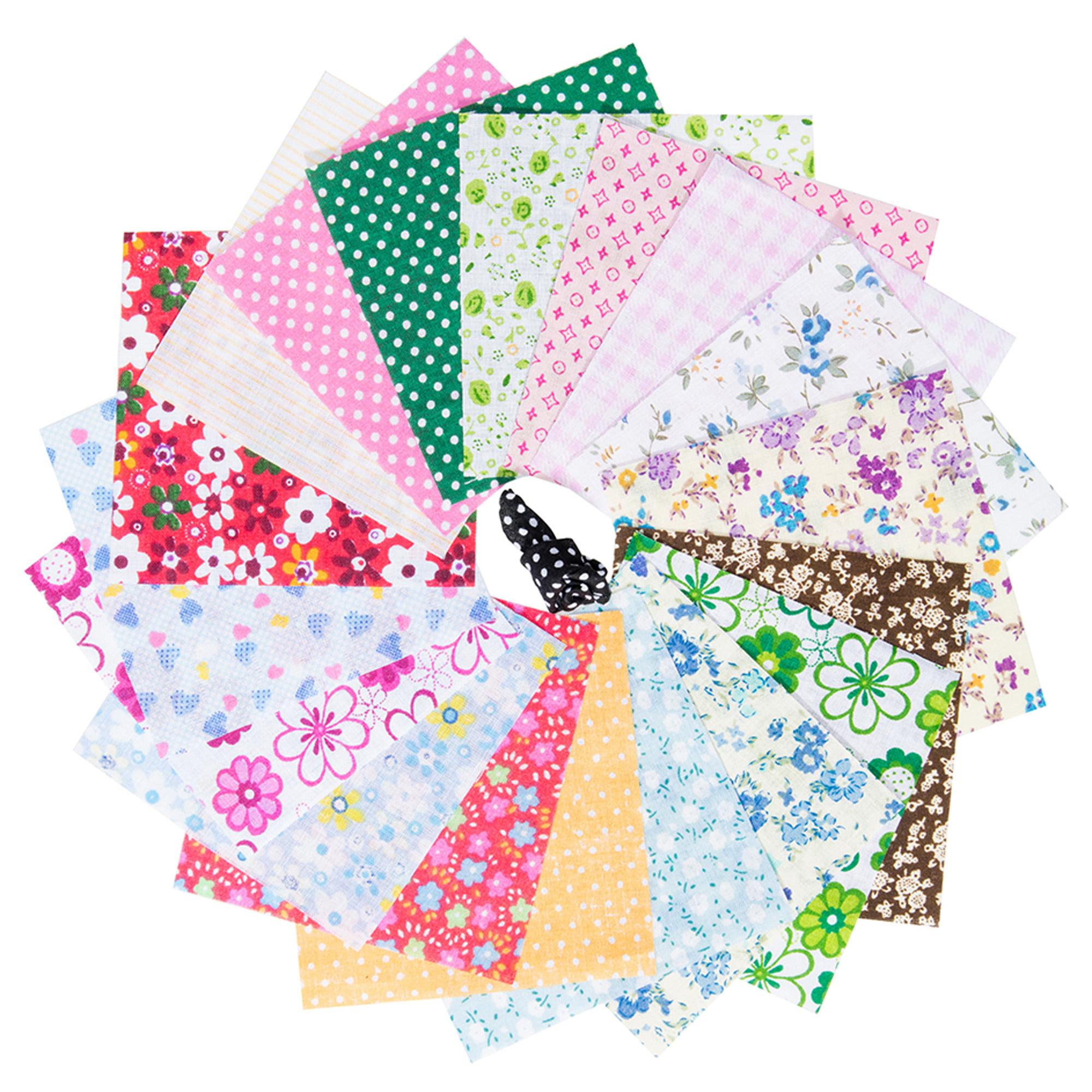 10 x 10 cm 50 Colors 50 Pieces Multi-Colors Fabric Patchwork Cotton Mixed Squares Bundle Sewing Quilting Craft