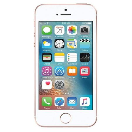 Refurbished like new Apple iPhone SE 16GB Universal Unlocked AT&T Verizon Sprint Rose Gold ...