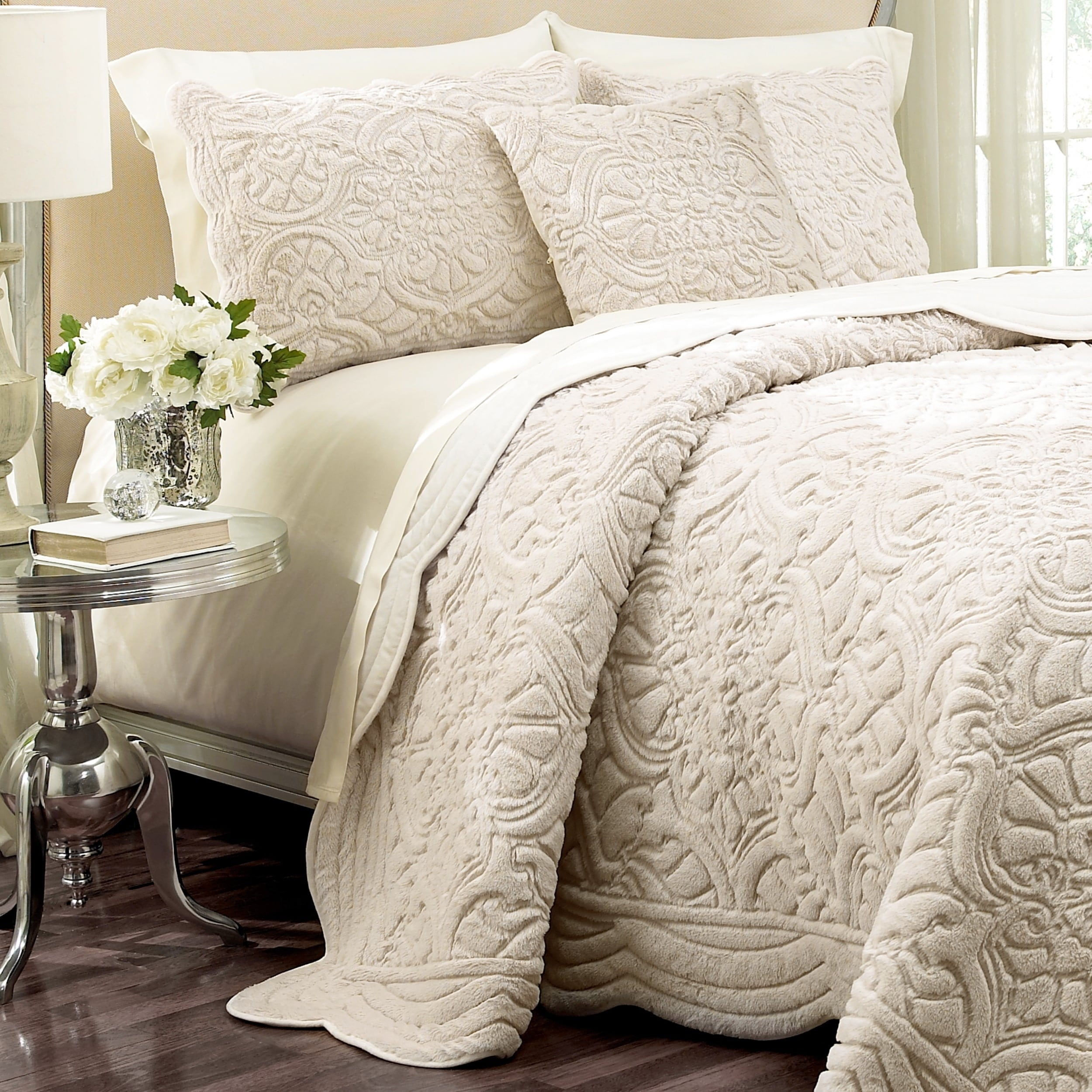 runner fullxfull scarf throws fur p faux shabby bedspread bed beddingluxury luxury ivory throw blanket cozy il chic coverlet decorative bedding