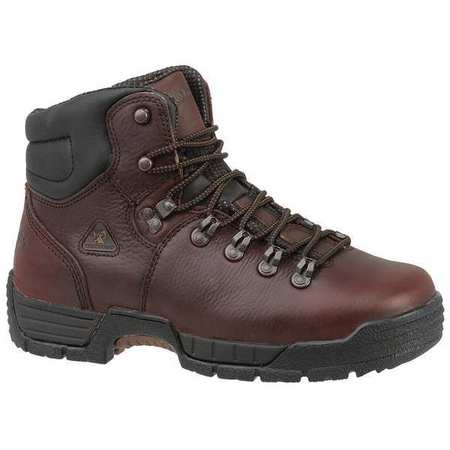 Rocky Size 15 Steel Toe Work Boots, Men's, Brown, W, 6114 SZ 15W