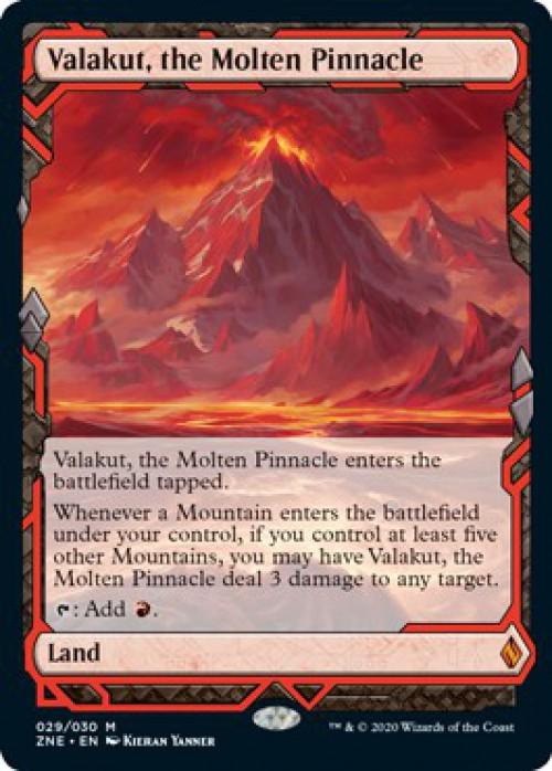 ZEN Zendikar the Molten Pinnacle MTG MOL Magic regular Rare Valakut