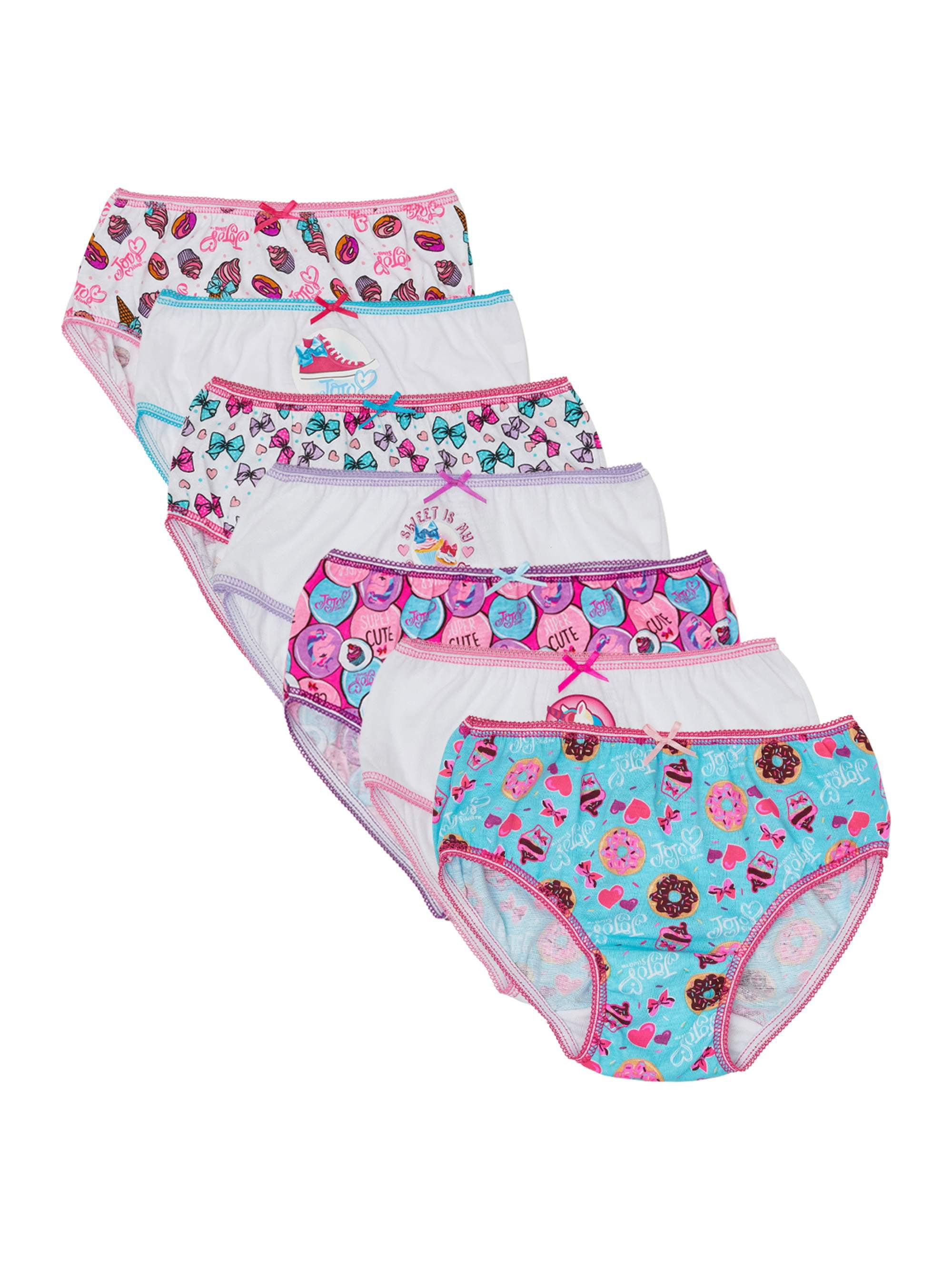 Jojo Siwa, Girls Underwear, 7 Pack Panties (Little Girls & Big Girls)