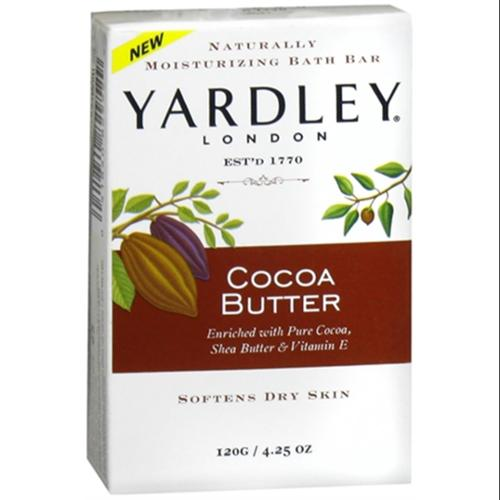 Yardley Moisturizing Bar Cocoa Butter 4.25 oz (Pack of 3)