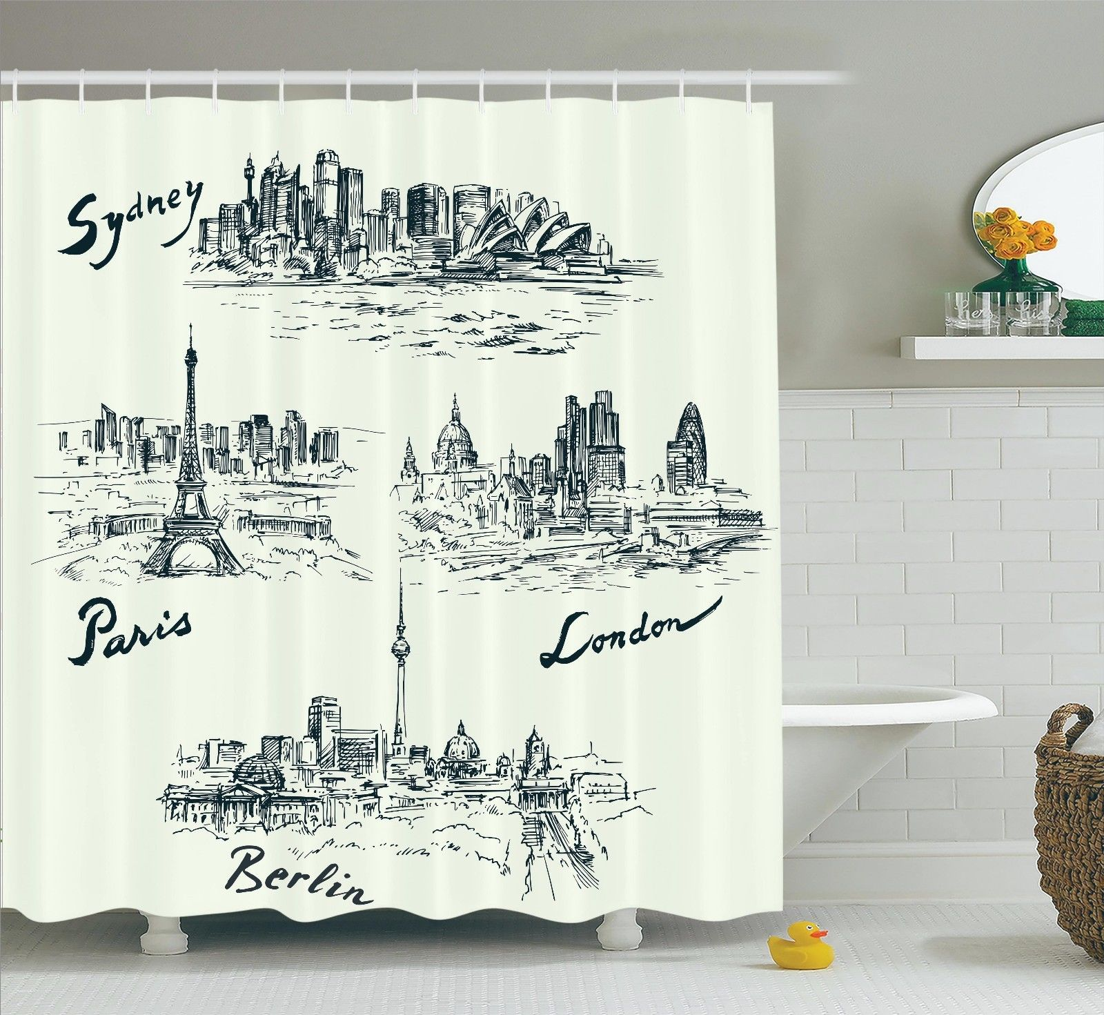 Apartment Decor  Silhouettes Of Different Popular Cities ...