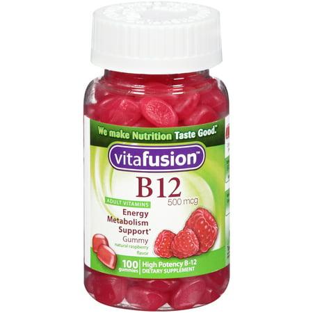 Vitafusion B12 Gummy Vitamines, 500mcg, 100 count