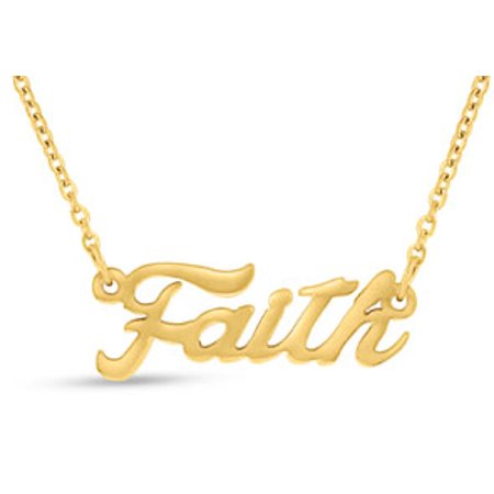 Faith Nameplate Necklace In Gold - Faith Necklace