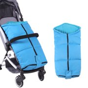Baby Stroller Sleeping Bag Child Car Umbrella Stroller Foot Cover Windproof Warm Thickened Cotton Pad Winter High Perspective Foot Cover