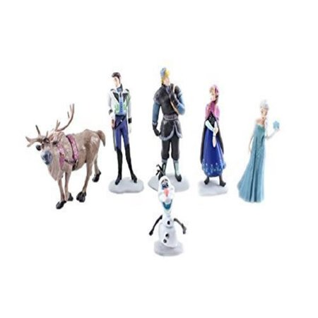 Anna Top - Frozen Cake Decoration Toppers Figures Toy Playset Doll Complete Set _ Anna Elsa Kristoff Olaf Hans Sven