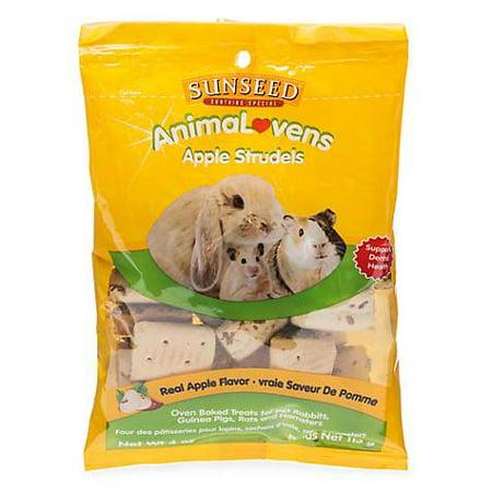 Sun Seed AnimaLovens Apple Strudels Rabbit, Guinea Pig, Rat & Hamster Treat, 4 oz (pack of 1)