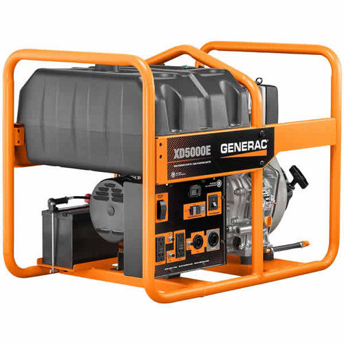 Generac 6864 XD5000E 5,000 Watt Electric Start Diesel Por...
