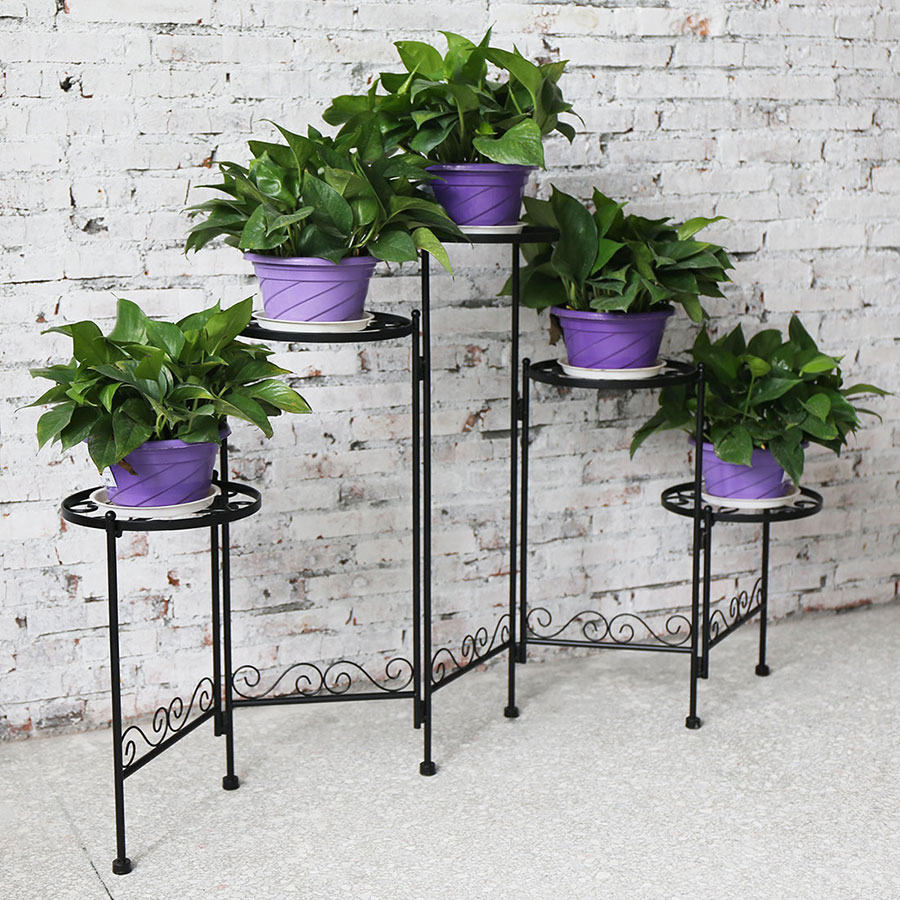 5-tier Folding Plant Stand Screen by AHHC
