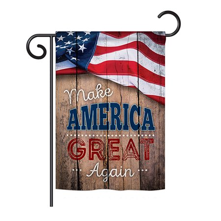 "Ornament Collection - Proud to Make America Great Again Americana - Everyday Patriotic Impressions Decorative Vertical Garden Flag 13"" x 18.5"" Printed In USA"