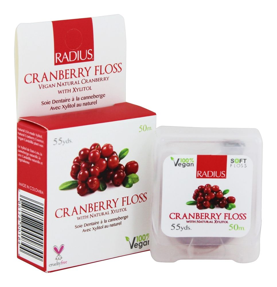 Radius - Floss with Natural Xylitol Cranberry - 55 Yard(s)