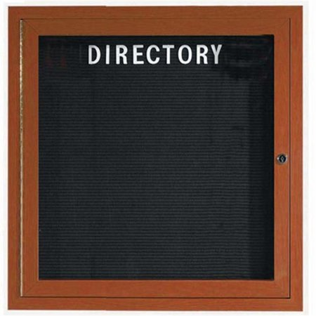 Aarco Products ADCO3636R Enclosed Directory Board Wood Look - - Indoor Directory Board