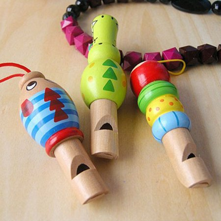 Aofa Wooden Cartoon Animal Whistle Educational Music Instrument Toy Baby Kid Favor - image 3 de 7