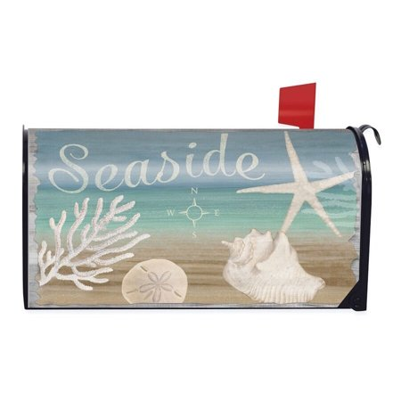 Seaside Summer Magnetic Mailbox Cover Nautical Starfish Beach Briarwood Lane