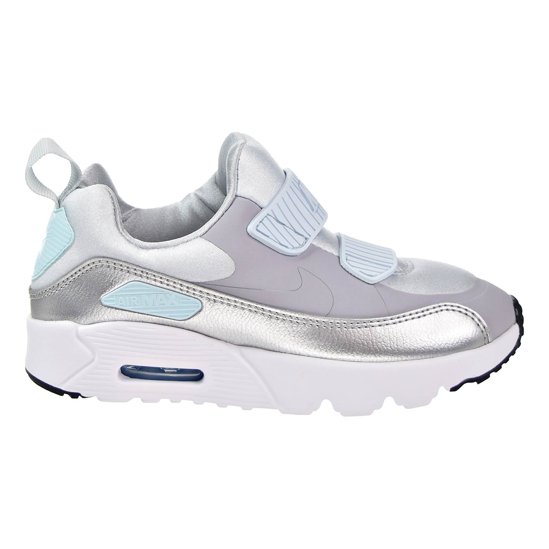 Nike - Nike Air Max Tiny 90 (PS) Running Shoes Pure Platinum/Wolf Grey 881926-001 - Walmart.com