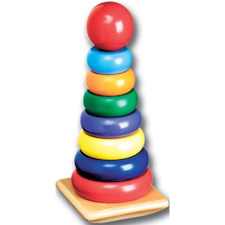 - Melissa & Doug Rainbow Stacker Wooden Ring Educational Toy