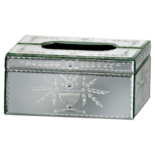 Venetian Gems Prima Mirror Tissue Box Cover