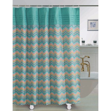 RT Designers Collection Chevron Woven Printed Shower Curtain