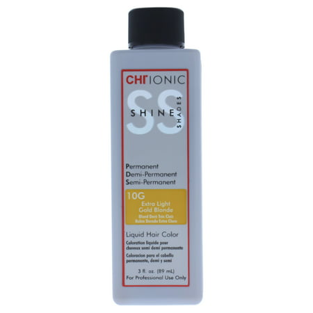 - CHI Ionic Shine Shades Liquid Hair Color - 10G Extra Light Gold Blonde - 3 oz Hair Color