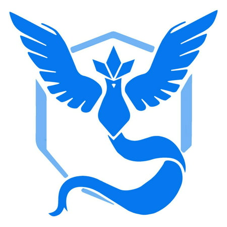 Blue Team Mystic Pokemon GO Decal Graphic Vinyl Die Cut Stickers Large 4 x 4""