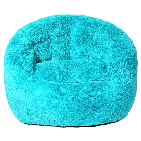 Faux Fur Bean Bag Chair Teal