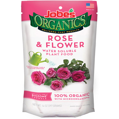 Easy Gardener 08240 Organics Rose & Flower Fertilizer, Water-Soluble, 12-oz.