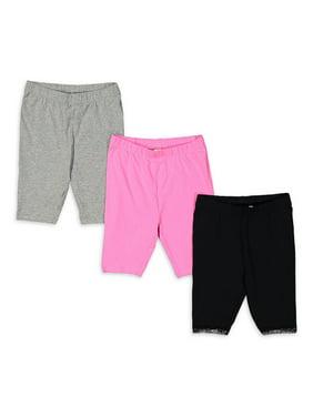 Freestyle Revolution Girls Solid Bike Shorts, 3-Pack, Sizes 4-12