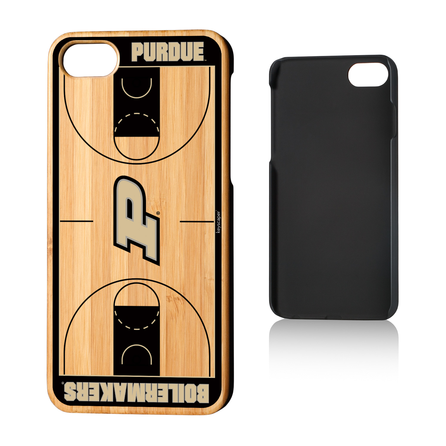 Purdue Boilermakers Basketball Court Bamboo Case for iPhone 8 / 7