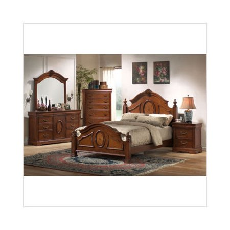 wildon home richardson bedroom set in rich caramel