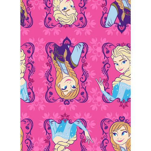 "Disney Frozen Sisters Framed Flannel Fabric, 42/43"" Wide, Sold by the Yard"
