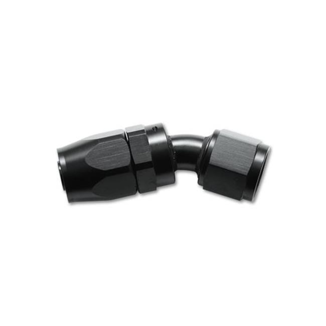 VIBRANT 21304 30 Degree Hose End Fitting Size -4 An, Black