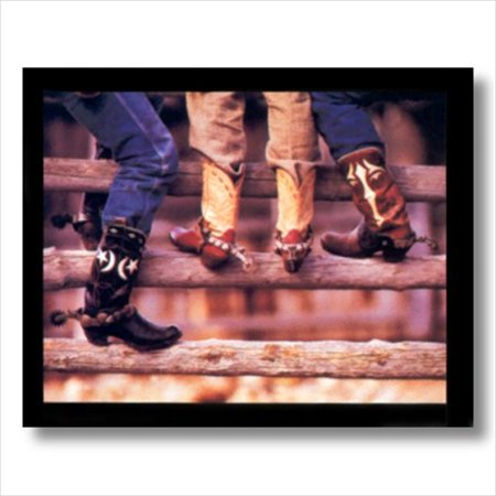 Spurs For Boots (Old Cowboy Boots Spurs Western Wall Picture Art)