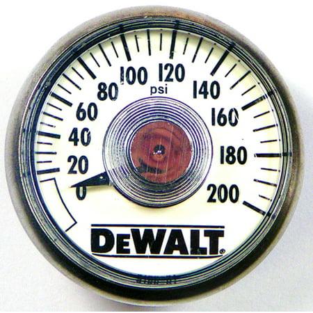 DeWalt Compressor Replacement Air Pressure Gauge # 5130205-00 - image 1 de 1