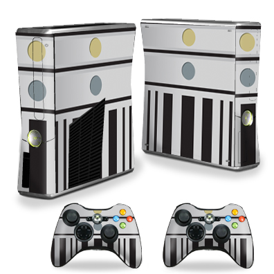 MightySkins Protective Vinyl Skin Decal for Microsoft Xbox 360 S Console wrap cover sticker skins Light Fighter
