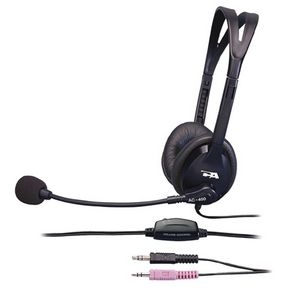 Cyber Acoustics Speech Recognition Stereo Headset with Boom Mic