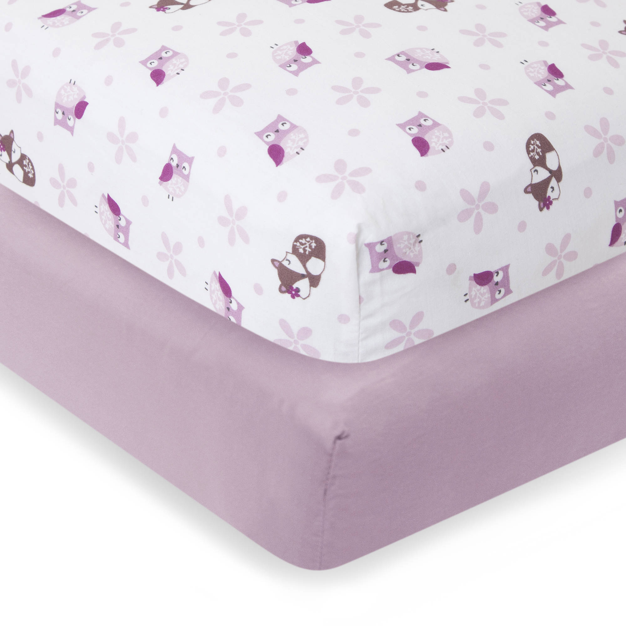 Bedtime Originals™ Lavender Woods Collection Crib Sheets 2 pc Bag