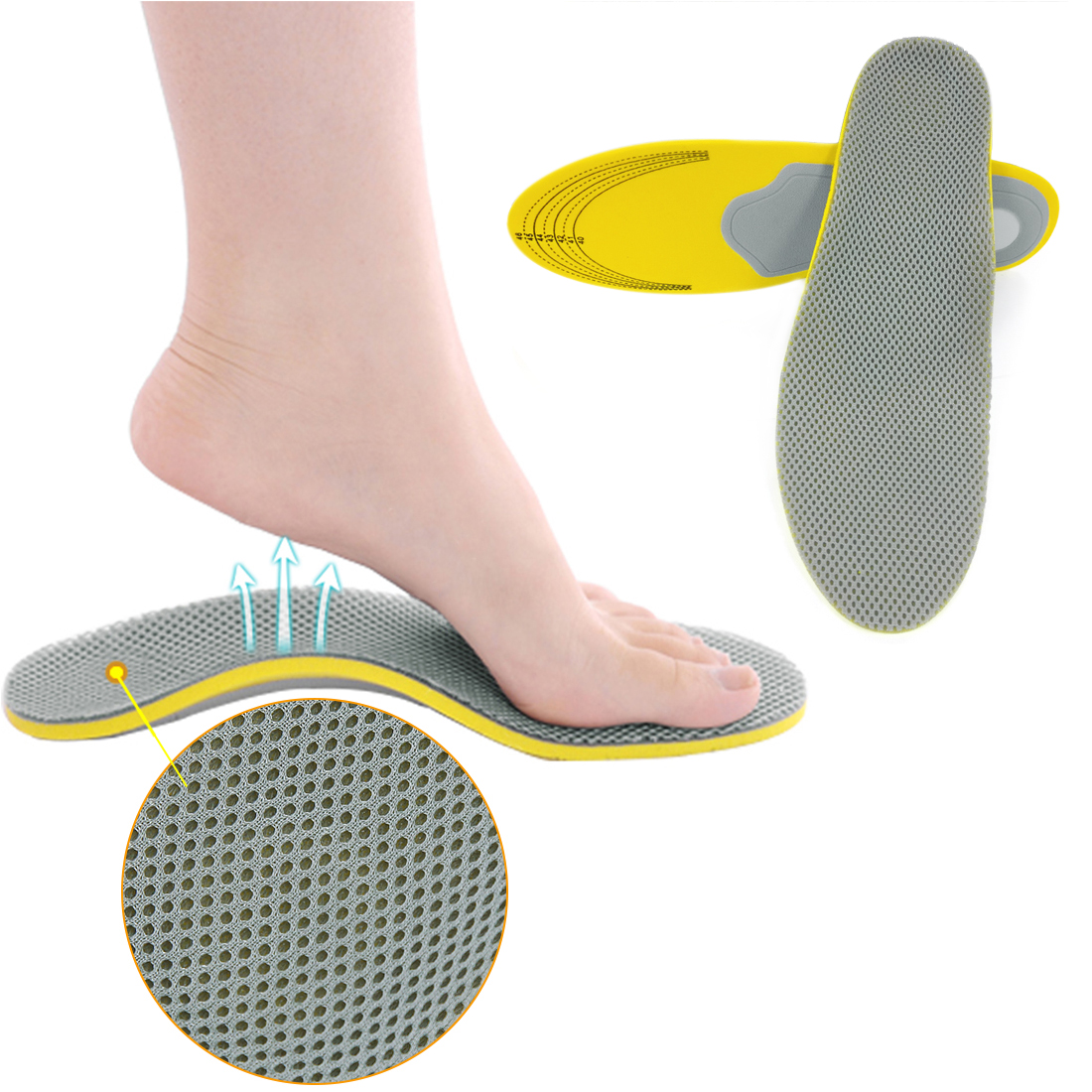 1 Pair Unisex Orthotic Shoe Insoles