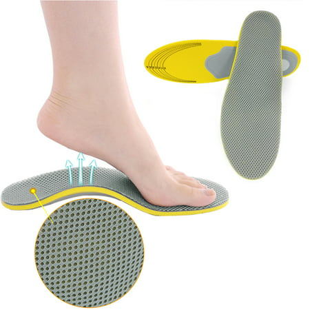 Pair Unisex Orthotic Foot Shoes Insoles Insert High Arch Support (Best Athletic Shoes For Arch Support)