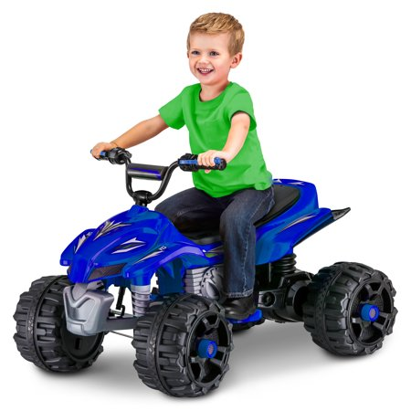 Sport ATV, 12-Volt Ride-On Toy by Kid Trax, ages 3+, blue Youth Blue Dirt Bike
