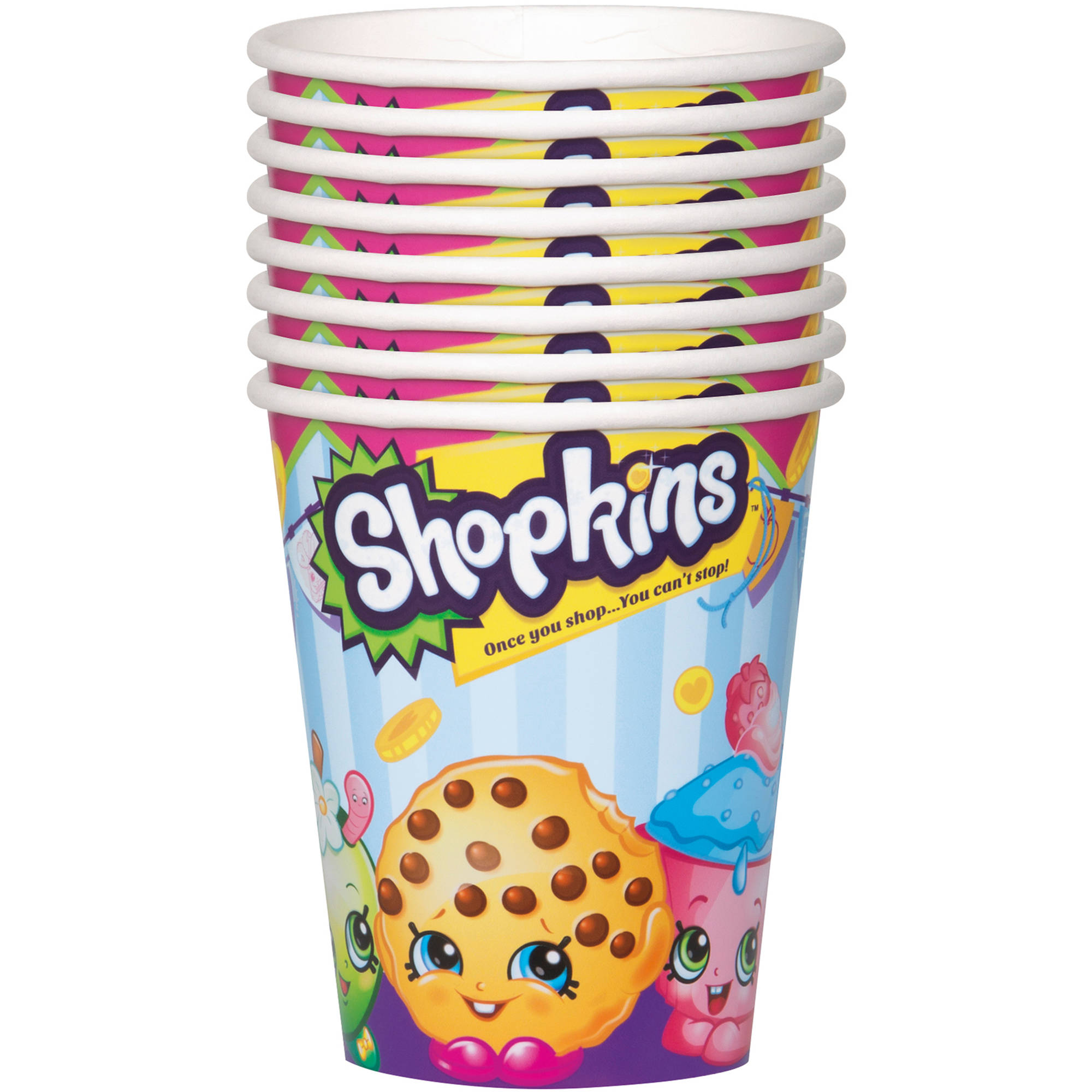 9-Ounce Paper Shopkins Cups, 8ct