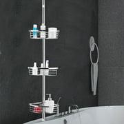 Gymax 3-Tier Corner Shower Caddy Stainless Steel Adjustable Bathroom Storage Shelf