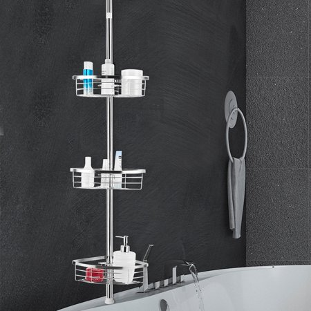 Gymax 3 Tier Corner Shower Caddy Stainless Steel Adjustable Bathroom