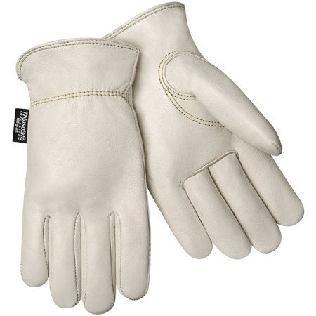 Steiner 0240T-S Winter Work Gloves, Top Grain Cowhide 100 Grain Thinsulate Lined Shirred Wrist, Smal