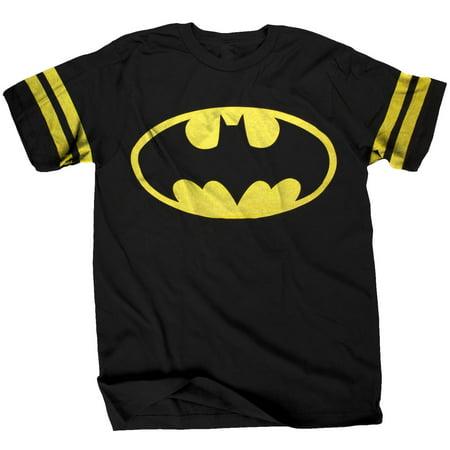 Batman Logo Athletic Style Adult T-Shirt (Adult Batman Shirt)