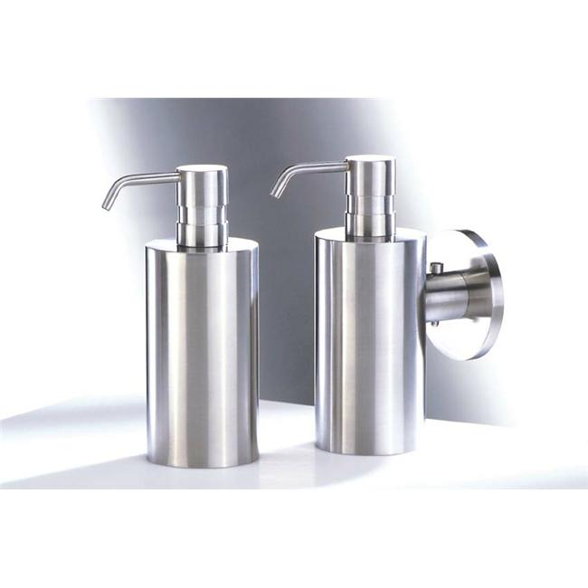 Zack 40225 MOBILO wall soap dispenser with metal pump Stainless Steel