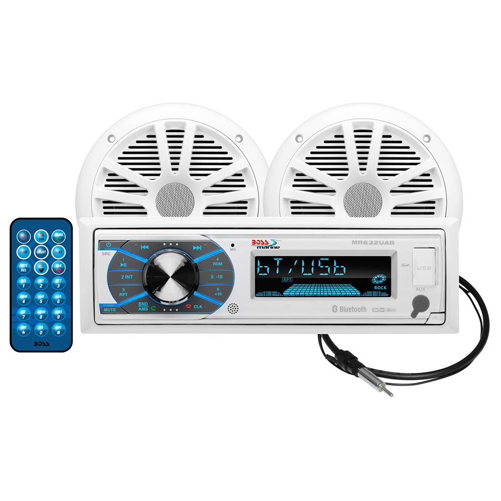 BOSS AUDIO MCK632WB.6 PACKAGE W/ MR632UAB 2 MR6W SPEAKERS