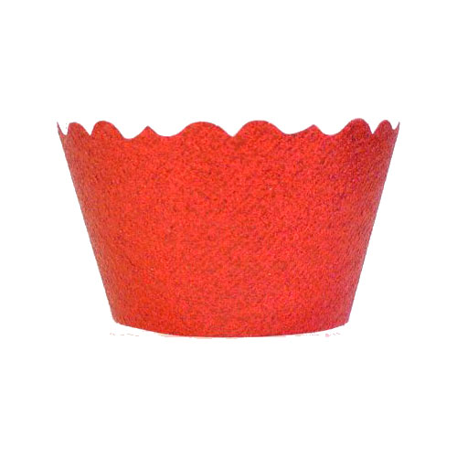 Bella Cupcake Couture Cupcake Wrappers - Glitter - Red